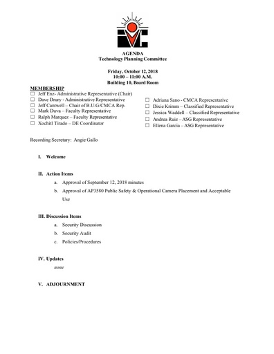 10.12.18 TPC Agenda