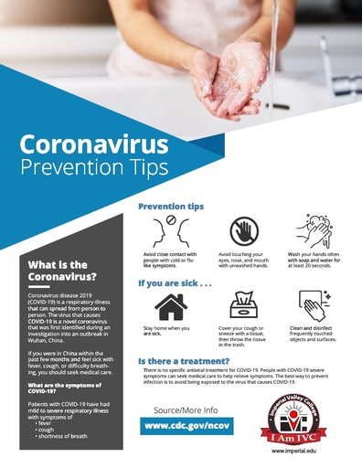 IVC COVID-19 Prevention Flyer