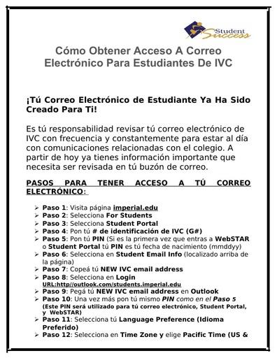 SPANISH Como Obtener Acceso A Correo Electrónico