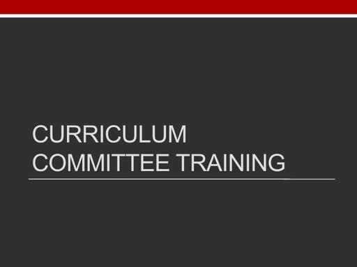 Curriculum - 040420 Presentation