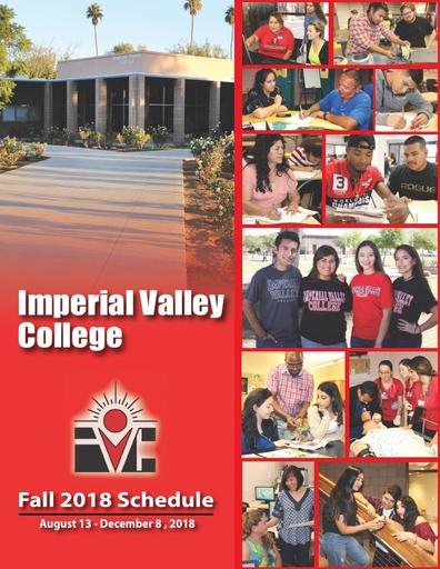 2018-08-13 - IVC Fall Schedule
