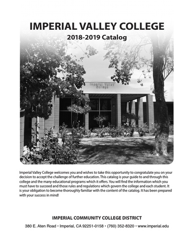 2018-2019 Catalog - Part 01 - Accreditation About the College