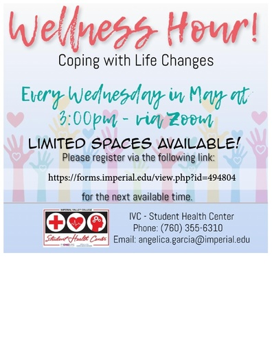 Student Wellness Hour Flyer with Link