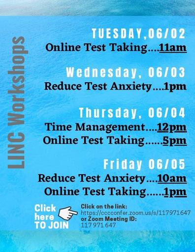 LINC Workshops June 2nd 5th