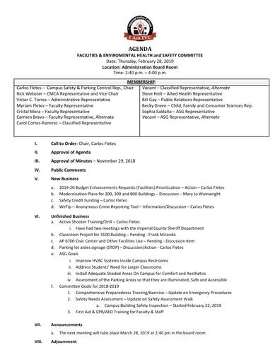 Agenda FEHSC 2019 02 28