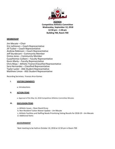 2018-09-12 CAC Agenda