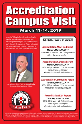 2019 Accreditation Campus Visit List of Events
