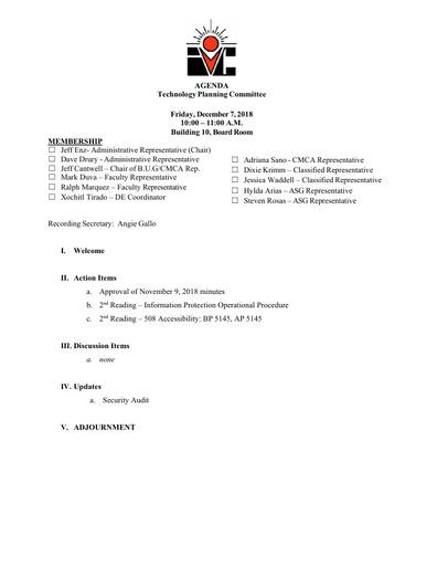 12 07 18 TPC Agenda