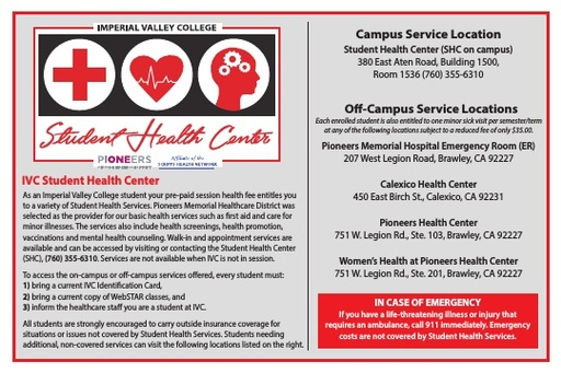 IVC Student Health Info